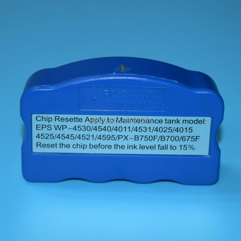 T6710 T6711 maintenance tank chip resettefor Epson WP-4515 WP-4020 WP-4520 WP-4530 WP-4533 WP-4590 WF-5111 PX-B750F B700 PX-675F wp admin