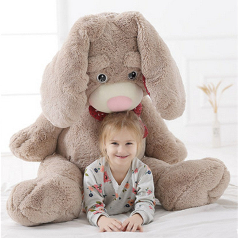 Fancytrader Giant Pop Anime Bunny Plush Doll Big Soft Stuffed Long Ear Rabbit Animals Toy with Rose Incense 2 Sizes Available fancytrader giant soft bunny plush toy big anime stuffed rabbit toys doll pink blue 110cm for children birthday christmas gifts