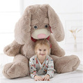 Fancytrader Giant Pop Anime Bunny Plush Doll Big Soft Stuffed Long Ear Rabbit Animals Toy with  Rose Incense 2 Sizes Available