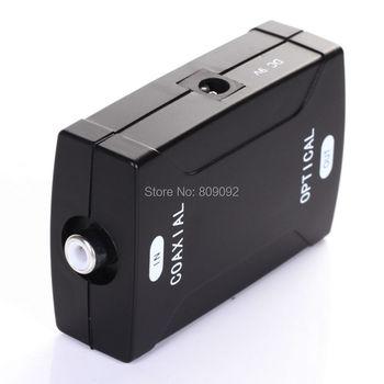 Digital Coax Coaxial RCA To Optical TOSlink SPDIF Digital Audio Converter Adapter
