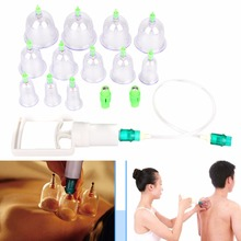Hot Sale 12Pcs Cupping Set Chinese Therapy Cellulite Medical Vacuum Silicone Massage Cups Newest