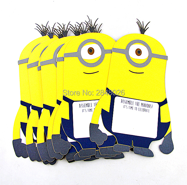 Custom Minions Invitations For BirthdayHappy Birthday Invitation Cards