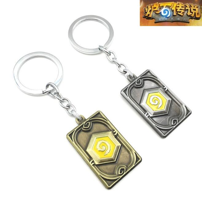 1Pcs/set Hot sale Cool Hearthstone Theme KeyChain Blizzard Key Chain KeyRing Ring Logo Legendary Coin