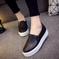 NALIMEZU 2017 Spring Autumn Women shoes For Black Loafers snakeskin leather slip on Loafer Casual Shoes zapatos mujer AA011