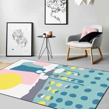 Nordic modern crystal velvet carpet kid room living room table cute full bedroom bedside rug kitchen bathroom non-slip mat home brick wall print crystal velvet fabric bathroom rug