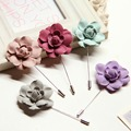 Wholesale Mixed 10 Pcs/Lot Handmade Fabric Brooch Flower for Men Suit Floral Lapel Pin of Multilayer Brooch Bouquet Stick