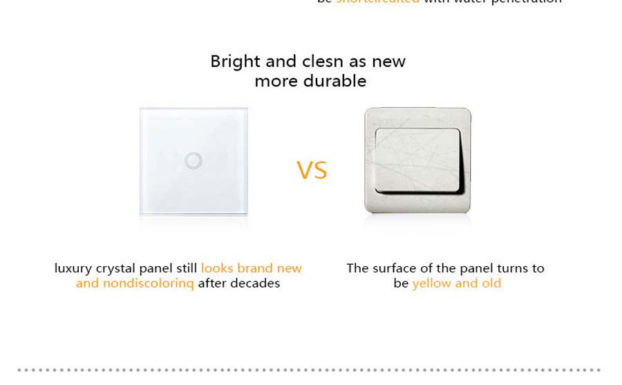12-Touch Switch-Light Switch-Touch Switch-Wall Light Switches-Fireproof Crystal Glass Panel-Wall Mounted Switch-for Home Hotels