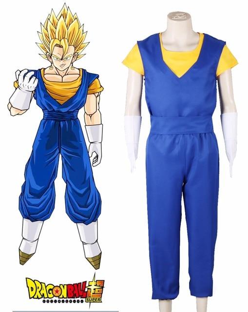 89fd8d7e22523 Freies Verschiffen Dragon Ball Super Son Goku und Vegeta Gokuh Kampf  Uniform Anime Cosplay Kostüm