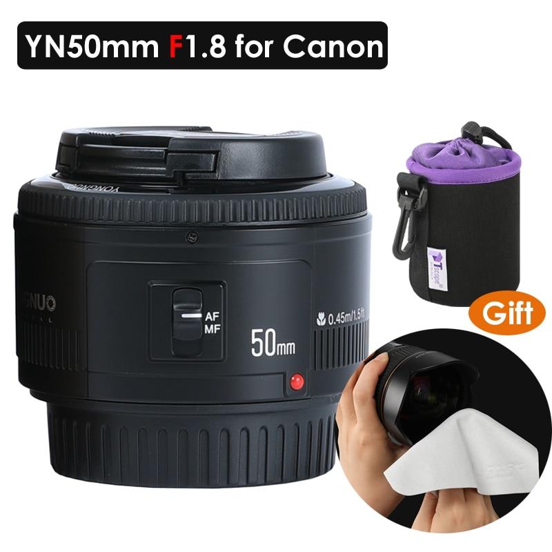 YONGNUO YN50mm f1.8 objectif de mise au point automatique pour Canon EOS 60D 70D 5D2 5D3 600D 1200D 6D 650D objectif pour appareils photo reflex numériques YN EF 50mm f/1.8 objectif AF