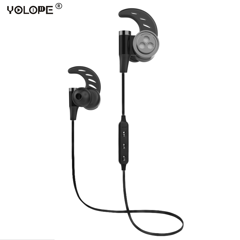 YOLOPE Mini Sport Earpieces Auriculares Headset Wireless Headphones Bluetooth Earphones For Phone With Microphone In Ear Earbuds kz ed8m earphone 3 5mm jack hifi earphones in ear headphones with microphone hands free auricolare for phone auriculares sport