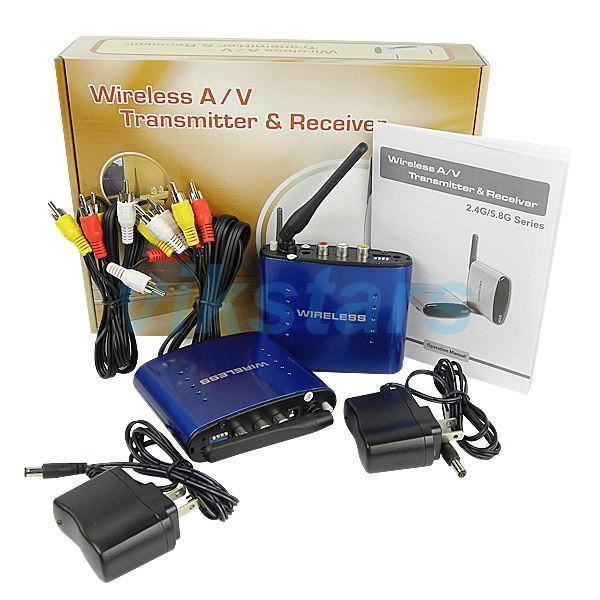 5.8 GHz Wireless AV Audio Video ransmitter Receiver 200M AV Sender  Audio Receiver for TV HDTV TV BOX PAT630 5pcs lot 800mw wireless av sender audio video transmitter and receiver kit 8 channel free express shipping