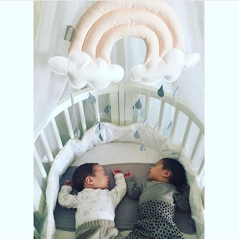 Children tent accessories home decoration creative 3D cloud raindrops cloth bed pendant scene arrangement props T52219