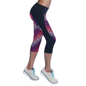 2019 Quick Drying Trousers Yoga Sport Pants Printed Cropped Women Sports Leggings Fitness Yoga Pants 1
