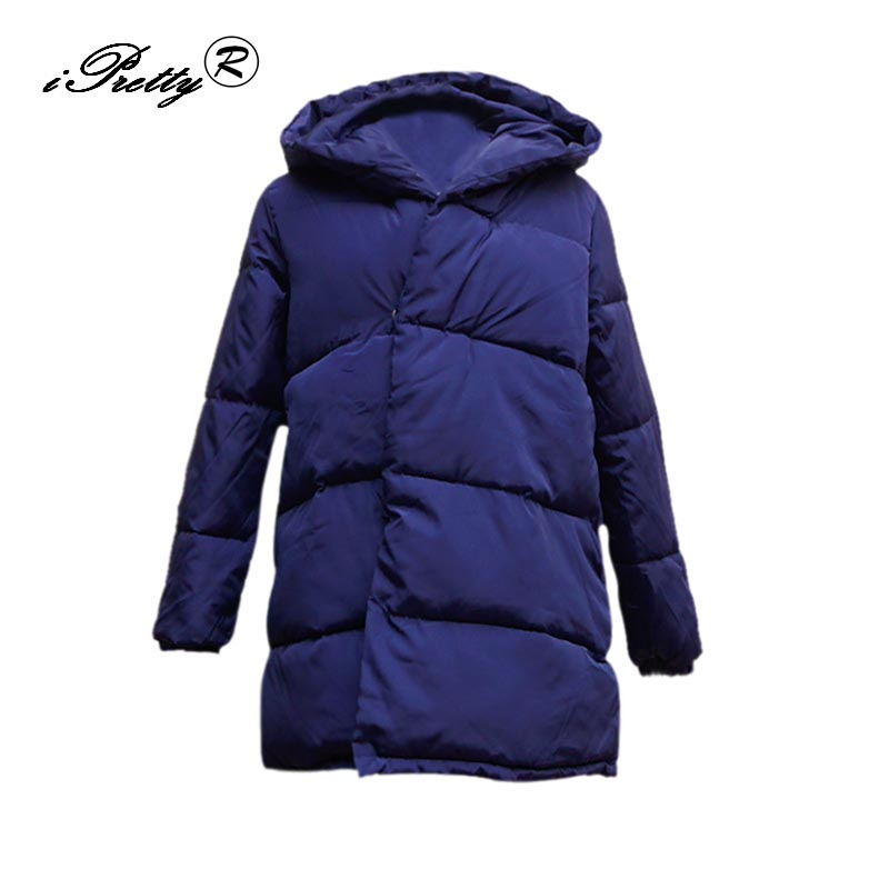 2017 Winter Jacket Women Cotton Padded Warm Solid Long Sleeve Hooded Parkas Overcoat Female Down Jacket Fashion Outwear цены онлайн