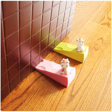 4pcs lot Cartoon Cheese Cow Style Safety Door Stop Edge Kids Door Stopper Holder Safety Baby