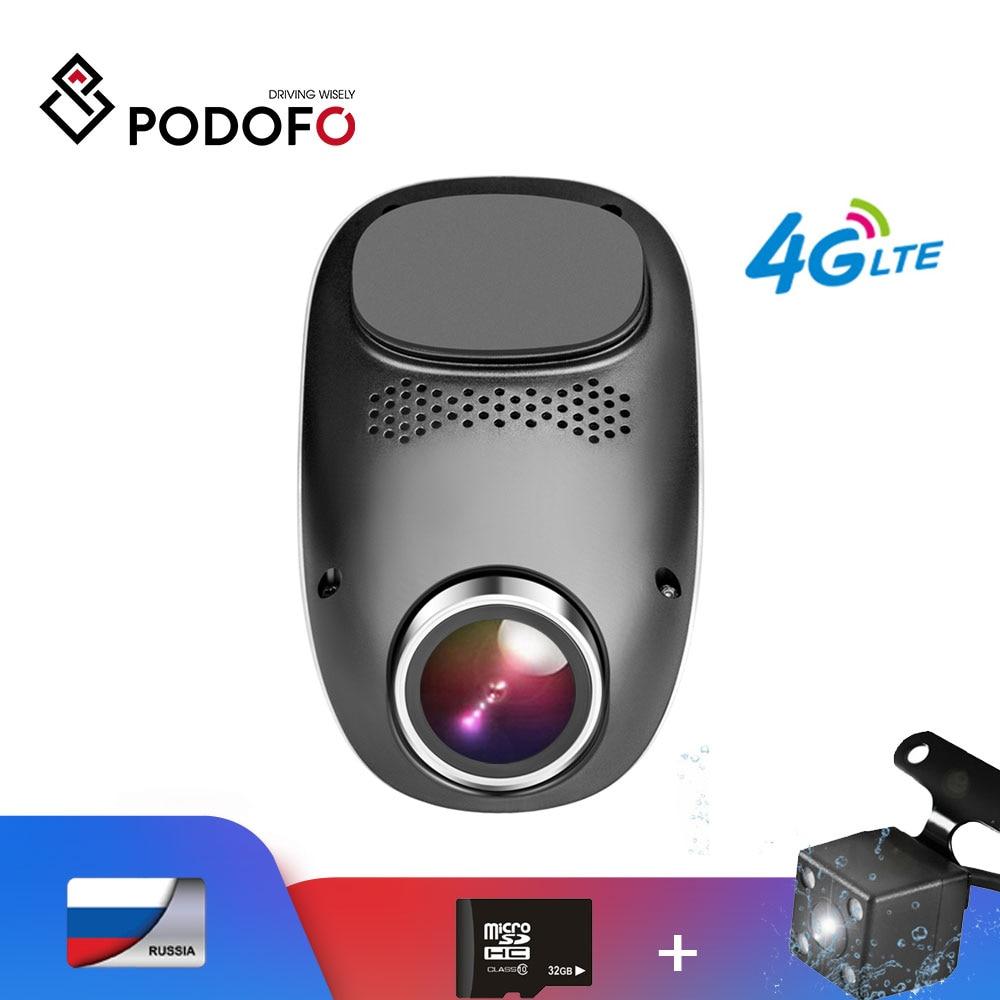 Podofo DVR Wifi Dash-Camera Dual-Lens ADAS Android 4G Registrator Loop-Recording 1080P