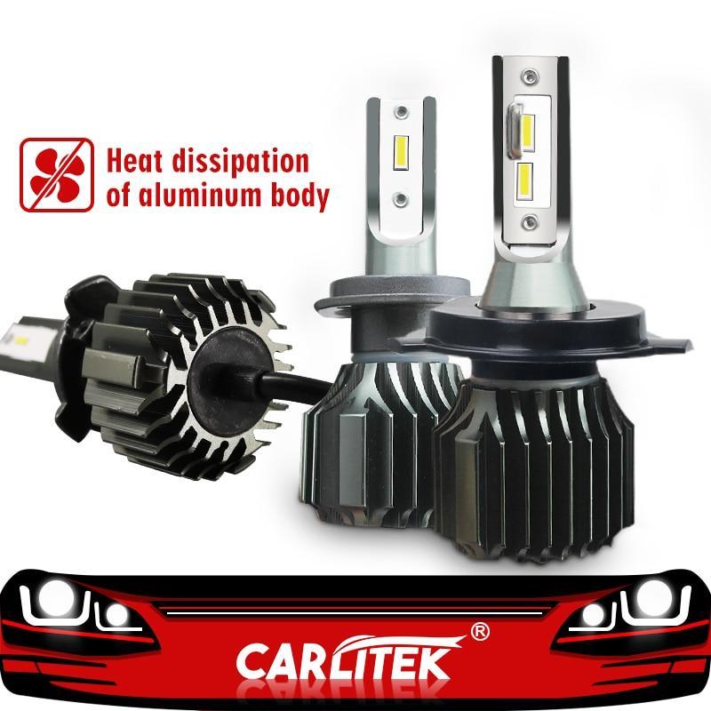 CARLitek 2Pcs Led H4 6000K 8000LM H7 H11 Car Headlight Bulb Mini Size H1 9005 9006 Automobiles HeadLamp Kit CSP Chip 48W Fanless body jewelry
