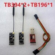 TB394*2+TB196*1 UART RF Wireless Transceiver Module + USB to TTL RS232 Telemetry Kit 2.4G 3DR Radio APM APM2 Vehicle UNO