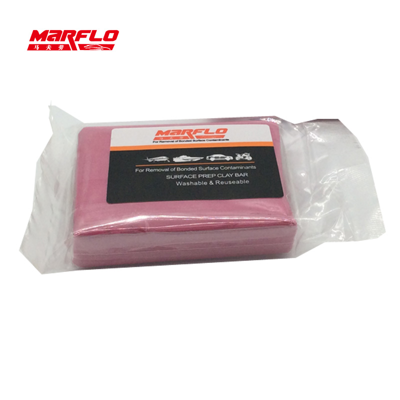 Marflo Magic Clay Bar Light Cutting Grade Pink 200g Auto Car Paint Care Cleaning Detailing Washing King Before Car Styling