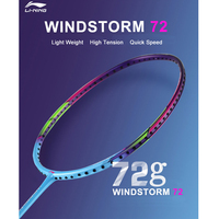 Li Ning WINDSTORM 72 Badminton Rackets Single Racket Professional Carbon Fiber LiNing Rackets AYPM084 EOND18