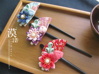 Sinamay Fascinator Hairpin Cocktail Tea Party Derby Wedding Accessory Hair Accessory Flower Hairpin Hair Clip Japanese O