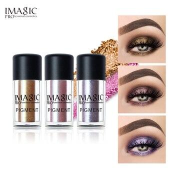 IMAGIC New Arrival Glitter Eyeshadow Metallic Loose Powder Waterproof Shimmer Pigments Colors Eye Shadow Makeup Cosmetics silky 1