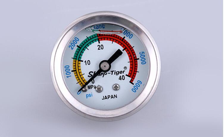 1 Gewinde Weich Und Leicht Paintball Pcp Handpumpe Hochdruck Messgeräte Manometer 40mpa/400bar/6000psi 1,5 Zoll 40mm Durchmesser M10 Home