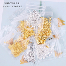 1Pack/ 200pcs Circle /Round/Square/Triangle + super small 2mm Rivet Manicure Studs fancy japanese nail art slices frames-