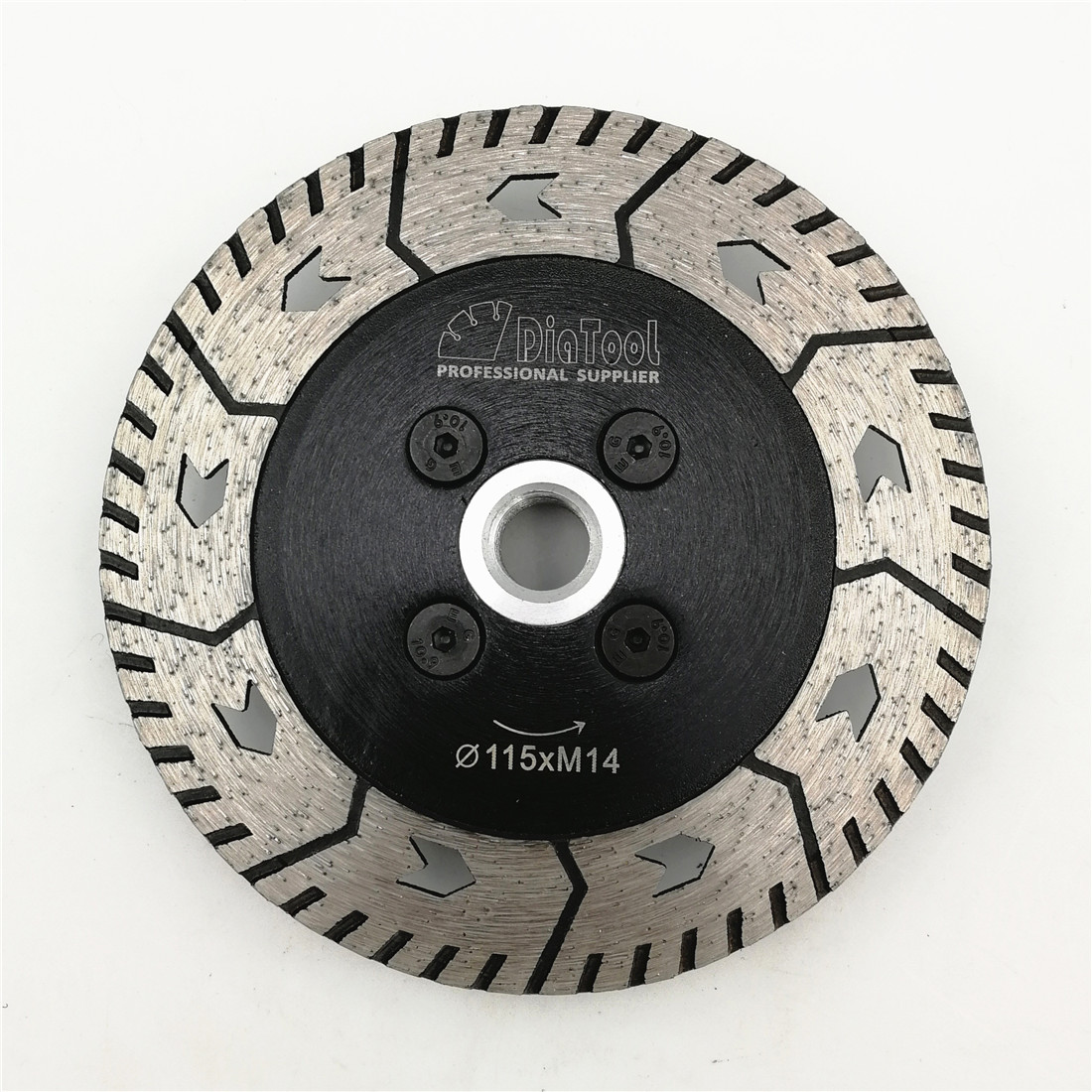 DIATOOL 1pc 115mm or125mm Diamond Cutting Grindng Disc Diameter 4.5 5 Dual Saw Blade Cut Grind Sharpen Granite Marble Concrete
