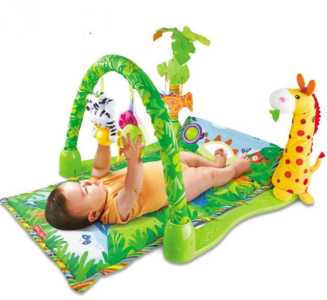 Brinquedo Esteira do Jogo do bebê Ginásio Atividade de Torção e Dobra Jogo ginásio Musical Gymini Playmat Macio Colorido com Muitos Brinquedos Playmats 82*60*46 cm