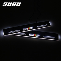 SNCN Trim Pedal LED Car Light Door Sill Scuff Plate Pathway Dynamic Streamer Welcome Lamp For Mitsubishi Lancer 8 9 10Ralliart