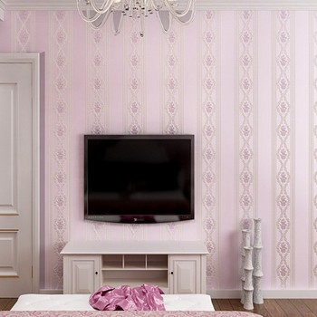 3D Stereo Pastoral Non-wovens Wallpaper Living Room Sofa Background Warmer Bedroom hotel Wallpaper