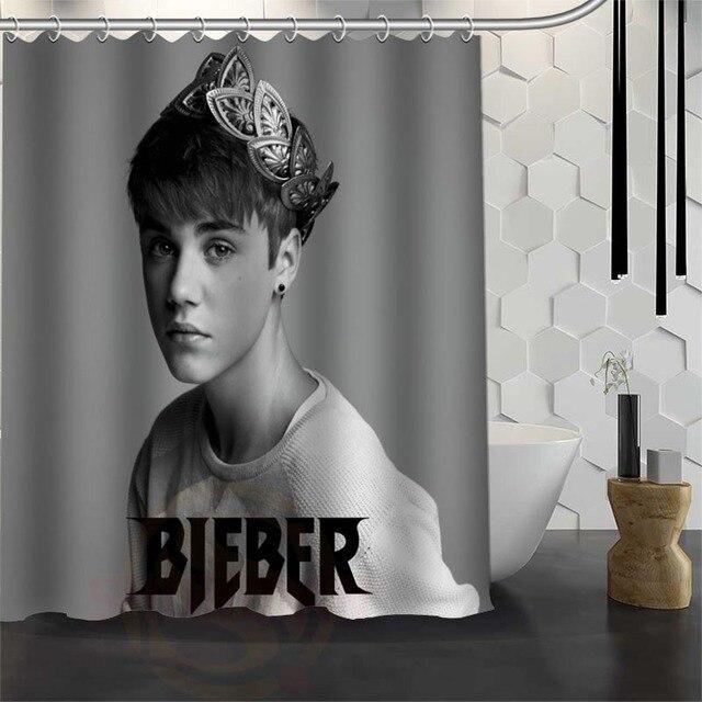 Best Custom Waterproof Bathroom Justin Bieber Shower Curtain Polyester Fabric 165X180cm180X200cm P