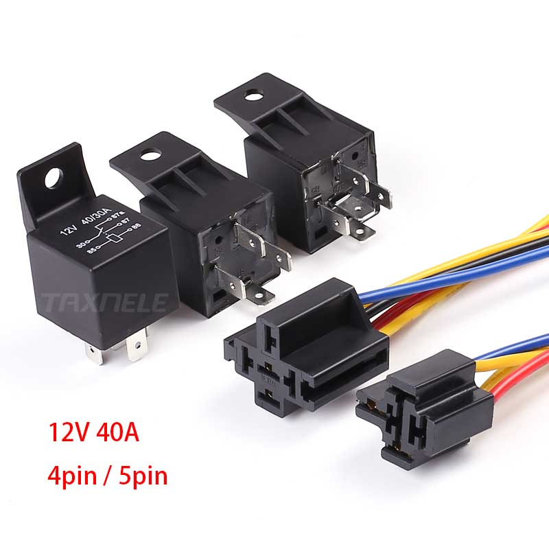 TAXNELE 5Pcs/set JD1914 JD1912 Waterproof Automotive Relay Car Relay 12V 40A 4Pin
