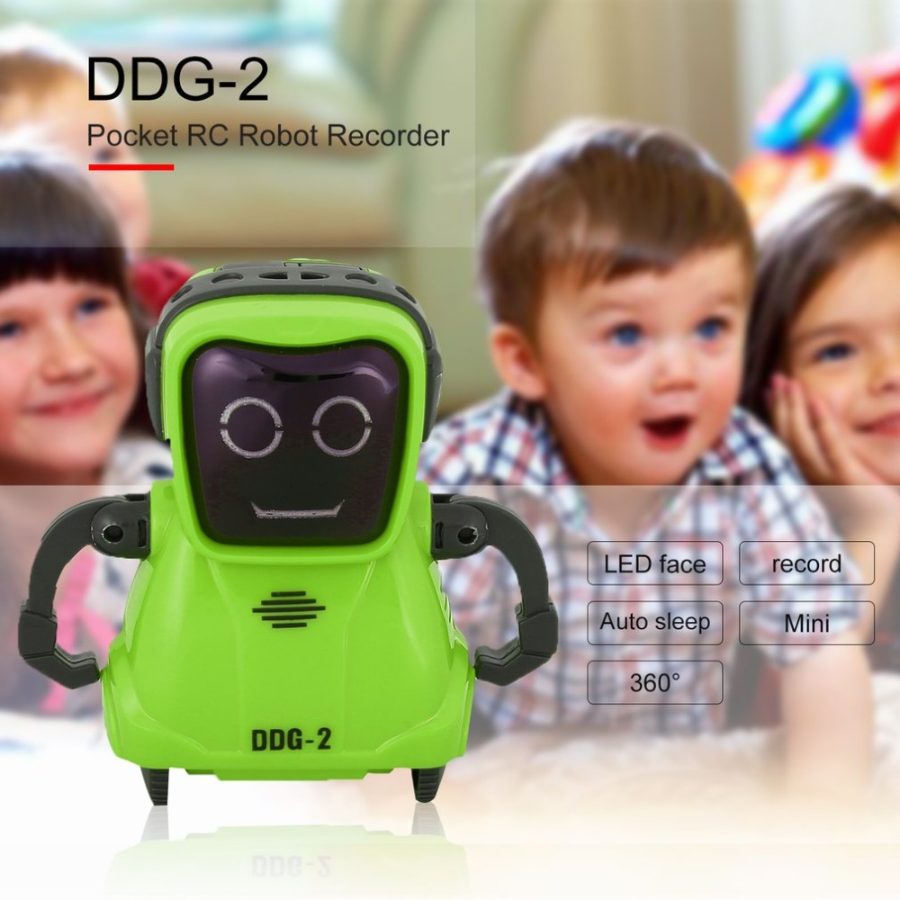 DDG-3 DDG-2  Intelligent Smart Mini Pocket Voice Recording RC Robot Recorder Freely Wheeling 360 Rotation Arm Toys for Kids Gift 2