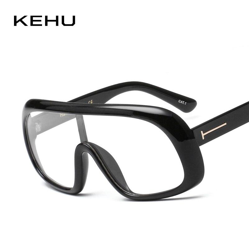 KEHU Frauen Oversized Rahmen Brillen Integral Brillengestell Kühlen ...