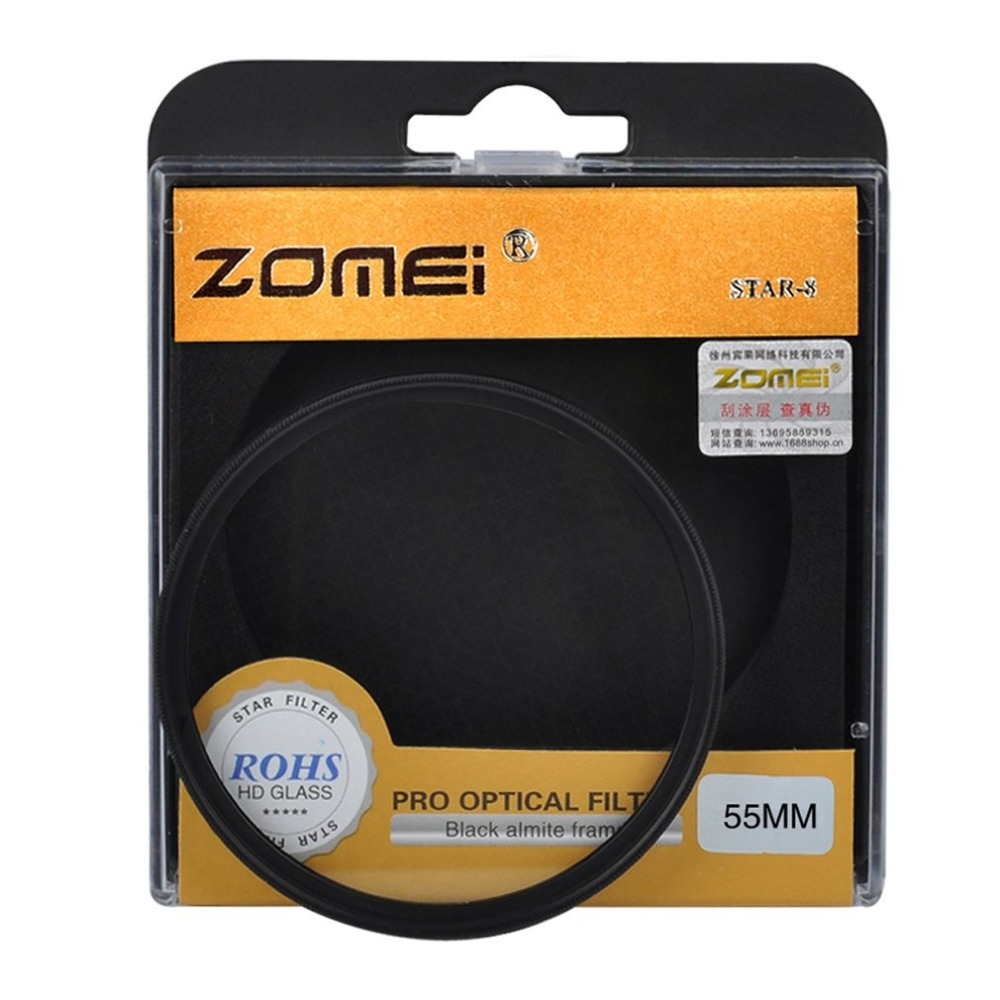 ZOMEI High Quality 4 6 8 Line SRB Star Filter Points Optical Glass Lens Star-Effect High Light Filter for Canon Nikon Sony