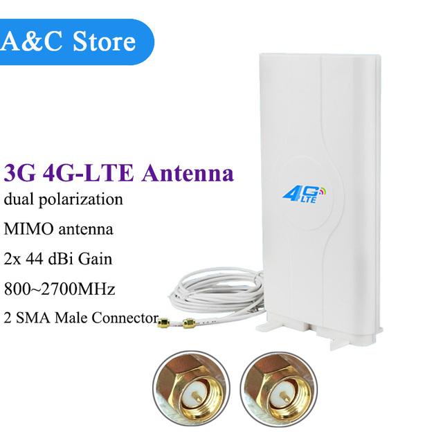 10/lot 3G antena 4g lte 800 ~ 2700 Mhz de alta ganancia 88dBi Móvil Hotpot Amplificador de Antena MIMO Antena Dual SMA macho 3 m Cable