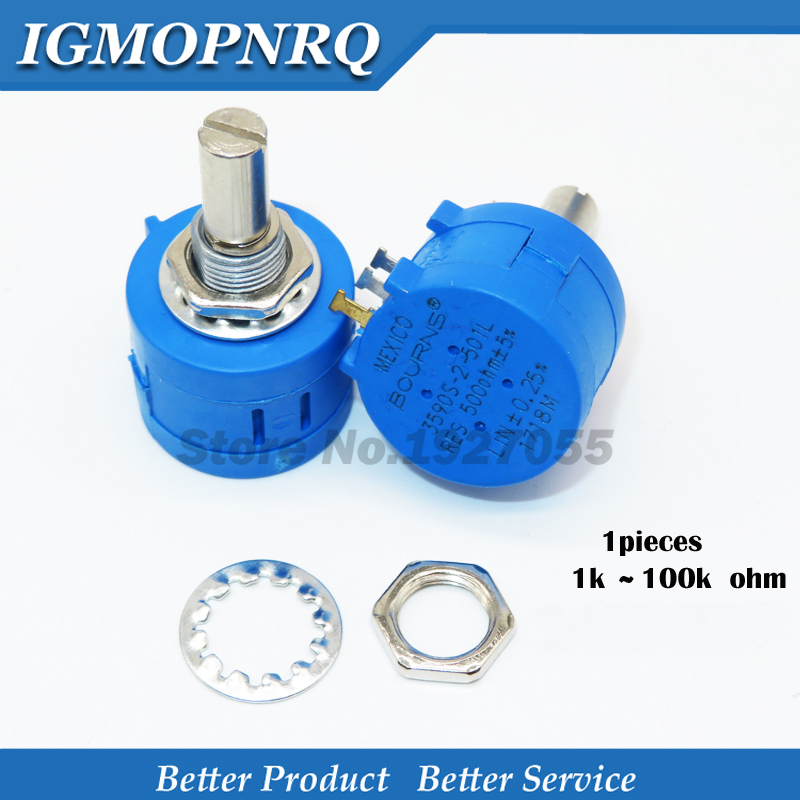 1PCS 3590S Series Potentiometer 500 1K 2K 5K 10K 20K 50K 100K Ohm 3590S-2-103L 3590S 101 102 103 104 201 202 203 501 502 503