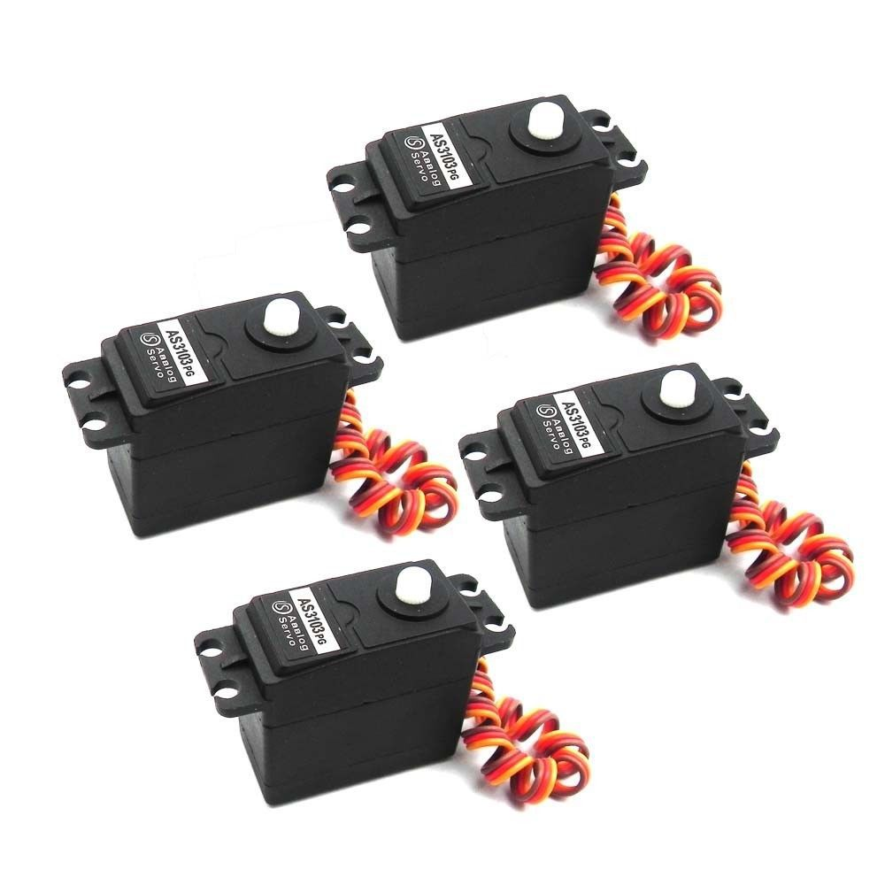 5x Servo 360 Degree Continuous Rotation Servos Dc Gear
