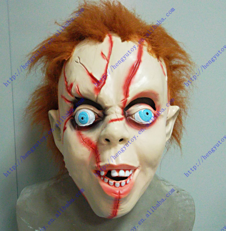 Chidren Size gadgets high quality Halloween Accessory Latex Chucky Mask