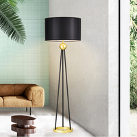 Nordic sample room, hotel room, personality, American style living room, fashion three foot rack, Oriental Pearl floor lamp
