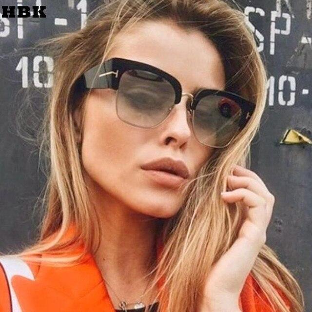 bb71968f2b48f Moda Feminina Oversized Cat Eye Óculos De Sol Das Mulheres Designer de Marca  de Luxo Do