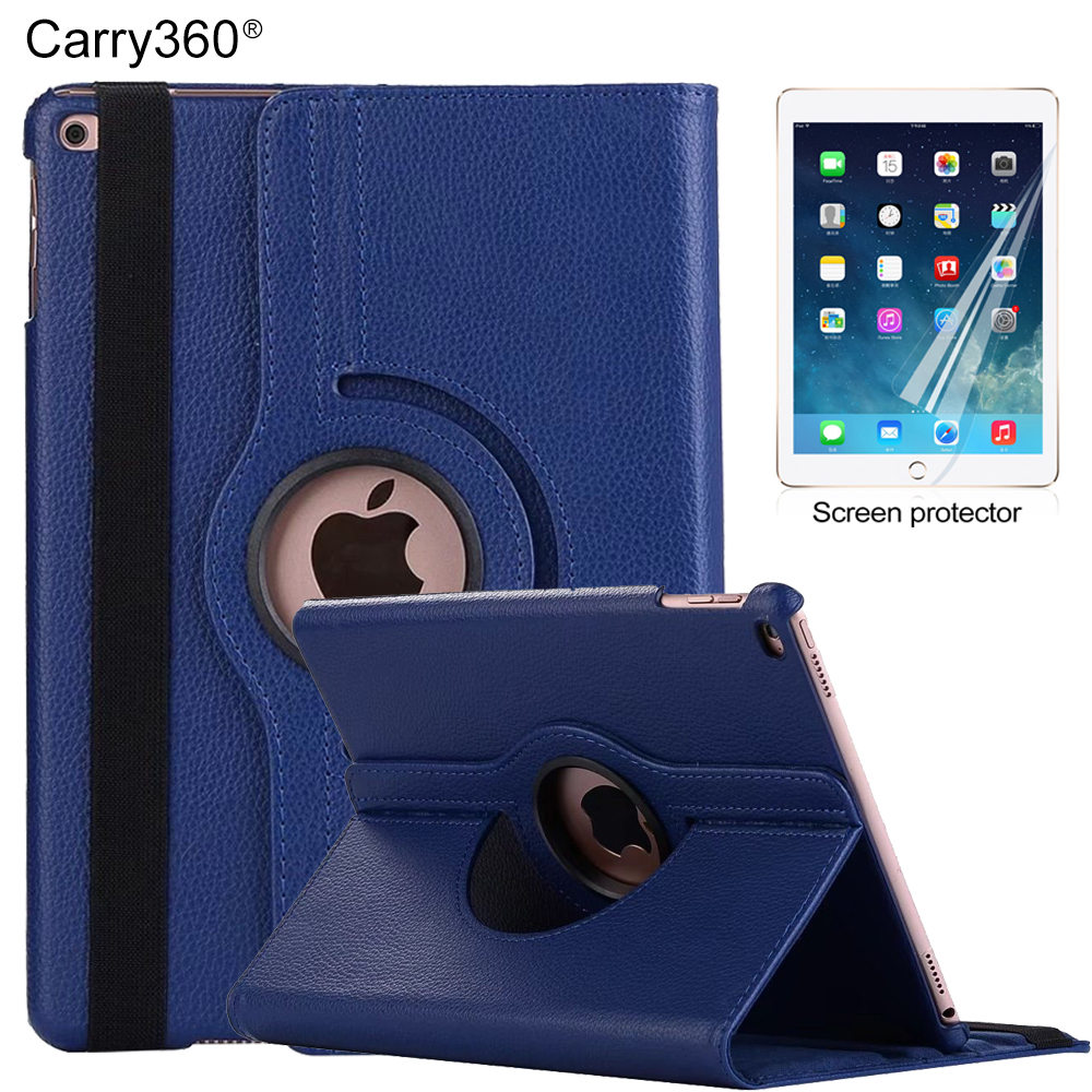 где купить Case for iPad Mini, Carry360 Flip 360 Degree Rotating Stand PU Leather Smart Cover for Apple iPad Mini 1 2 3 Funda Coque дешево