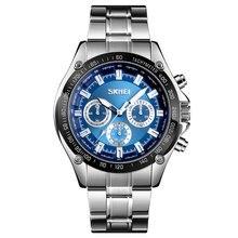 SKMEI Top Brand Luxury Business Men Watch Stainless Steel Quartz Watch 30m Waterproof Casual Sport Watch Models Relogio Watches цена в Москве и Питере