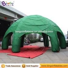 Темно-зеленый надувной Шесть Ноги паук палатка 8 м dia взорвать палатка с воздуходувки для наружными игрушка палатки