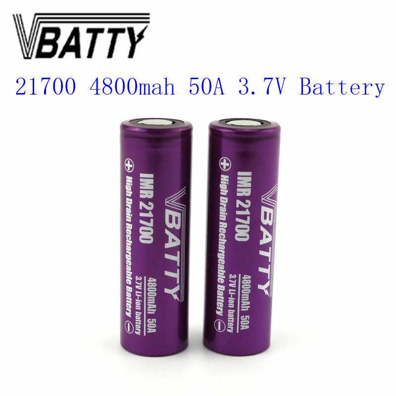 1 قطعة/الوحدة أحدث Vbatty 21700 4800mah 50A بطارية 3.7 فولت ليثيوم أيون قابلة للشحن 21700 بطارية PK INR21700-30T رخيصة جدا