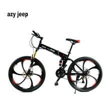 26 zoll 21 Geschwindigkeit Klapprad Männlichen/Weibliche/Student Mountainbike Doppelscheibenbremse Volle Shockingproof Rahmen Bremsen