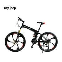 26 Inches 21 Speed Folding Bicycle Male Female Student Mountain Bike Double Disc Brake Full Shockingproof