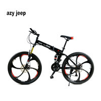 26 Inches 21 Speed Folding Bicycle Male Female Student Mountain Bike Double Disc Brake Full Shockingproof